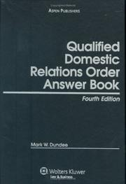 Cover of: Qualified Domestic Relations Order (QDRO) Answer Book