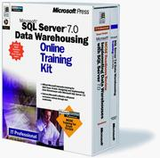 Cover of: Microsoft(r) SQL Server(tm) 7.0 Data Warehousing Online Training Kit | Microsoft Corporation.