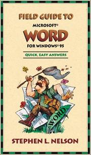Cover of: Field Guide to Microsoft(r) Word for Windows(r) 95