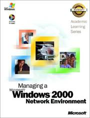 Cover of: ALS Managing a Microsoft Windows 2000 Network Environment | Microsoft Corporation.