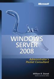 Cover of: Windows Server  2008 Administrator's Pocket Consultant (Pro - Administrator's Pocket Consultant)