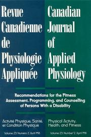 Cover of: Canadian Journal of Applied Physiology, April 1998