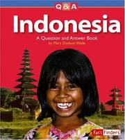 Cover of: Indonesia: A Question And Answer Book (Fact Finders)