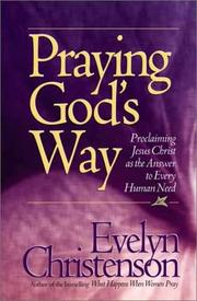 Cover of: Praying God's Way