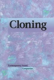 Cover of: Contemporary Issues Companion - Cloning | Lisa Yount