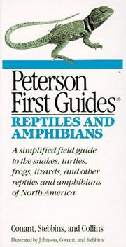 Cover of: Peterson first guide to reptiles and amphibians | Conant, Roger