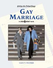 Cover of: Gay Marriage | Lauri S. Friedman