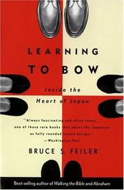 Learning to bow by Bruce S. Feiler