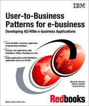 User-To-Business Patterns for E-Business Developing As/400E E-Business Applications