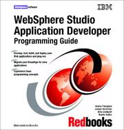 Cover of: WebSphere Studio Application Developer Programming Guide | Osamu Takagiwa