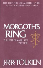 Cover of: Morgoth's Ring, The Later Silmarillion, Part One