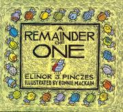Cover of: A remainder of one