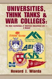 Cover of: Universities, Think Tanks and War Colleges