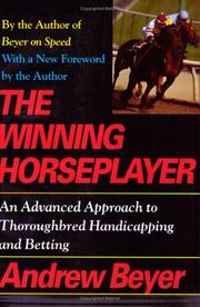 Cover of: The winning horseplayer | Andrew Beyer