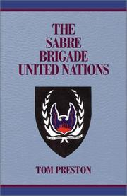 Cover of: The Sabre Brigade United Nations | Tom Preston
