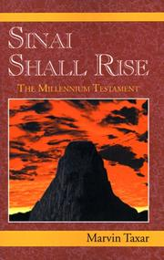 Cover of: Sinai Shall Rise | Marvin Taxar