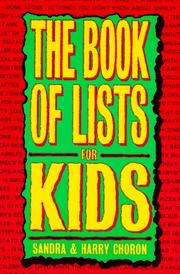 Cover of: The book of lists for kids
