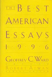 Cover of: The Best American Essays 1996 (Best American Essays) |