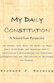 Cover of: My Daily Constitution | Richard J. Rolwing