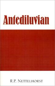 Cover of: Antediluvian