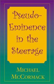 Cover of: Pseudo-Eminence in the Steerage