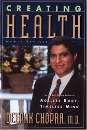 Cover of: Creating health