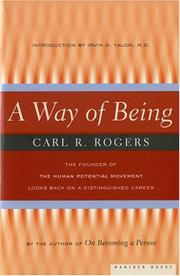 Cover of: A way of being by Rogers, Carl R.
