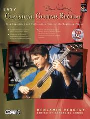 Cover of: Easy Classical Guitar Recital | Benjamin Verdery