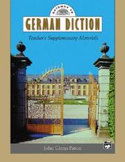 Cover of: Gateway to German Diction