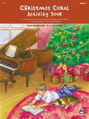 Cover of: Christmas Carol Activity Book, Book 1 |