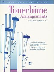 Cover of: Alfred's Very First Tonechime Arrangements (Alfred Handbell Series)