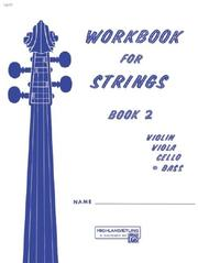Cover of: Workbook for Strings, Book 2