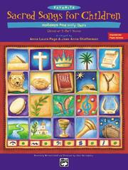 Cover of: Favorite Sacred Songs for Children..Hholidays and Holy Days |