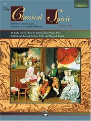 Cover of: The Classical Spirit, Book 1 (Spirit Series)