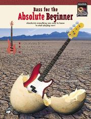 Cover of: Bass for the Absolute Beginner