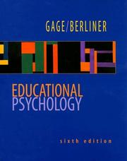 Cover of: Educational psychology | N. L. Gage