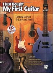 Cover of: I Just Bought My First Guitar