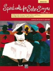 Cover of: Spirituals for Solo Singers, Book 2 | Andy Beck