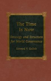 Cover of: The Time is Now