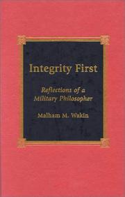 Cover of: Integrity First