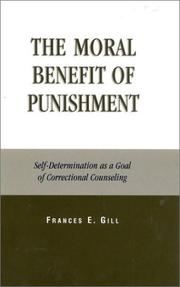 Cover of: Moral Benefit of Punishment