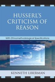 Cover of: Husserl's Criticism of Reason