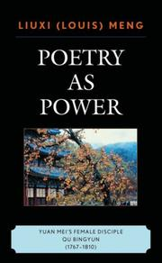 Cover of: Poetry as Power
