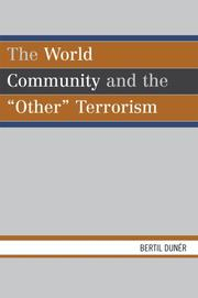 Cover of: The The World Community and the Other Terrorism