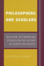 Cover of: Philosophers and Scholars | Jonathan Cohen