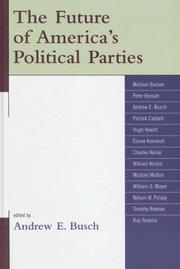 Cover of: The Future of America's Political Parties
