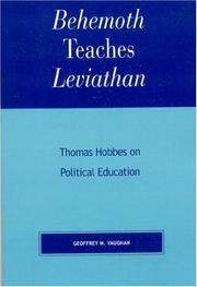 Cover of: Behemoth Teaches Leviathan