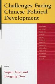Cover of: Challenges Facing Chinese Political Development