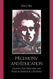 Cover of: Hegemony and Education