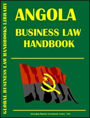 Cover of: Angola Business Law Handbook